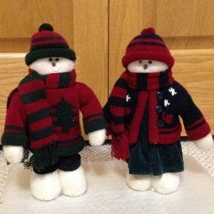 Him & Her Standing Snowmen (sold as a pair)